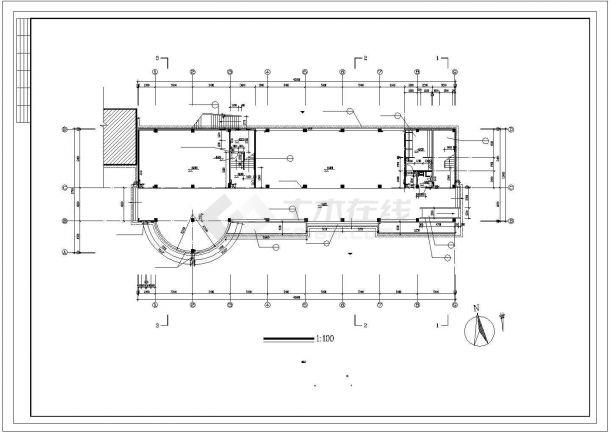 某五层小学多功能教学楼建筑施工cad图,共十一张-图二