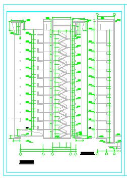 某点式小高层建筑CAD平面图纸-图一