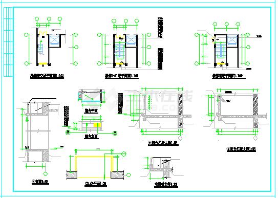某点式小高层建筑CAD平面图纸-图二