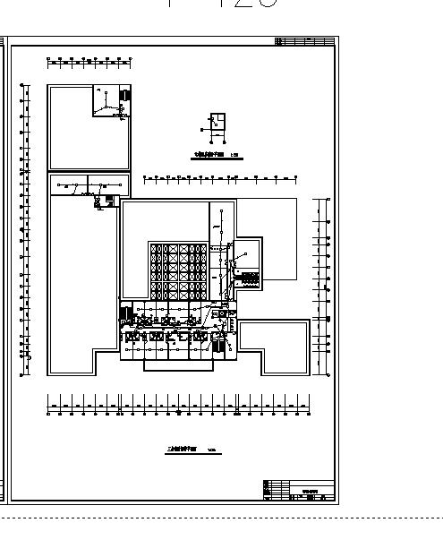 机场酒店消防自动报警设计施工cad图纸-图一