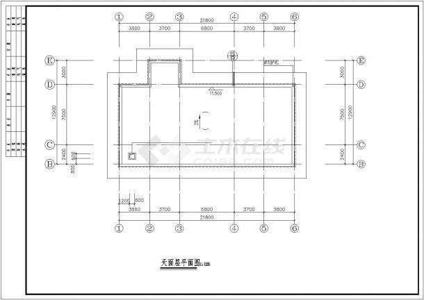 兴宁市福兴花园小区730平米3层框架结构社区活动中心建筑设计CAD图纸-图一