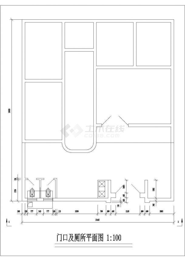 杭州市水泉新村三层砖混结构私人民房住宅楼建筑设计CAD图纸-图一