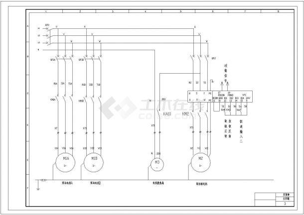 贝莱特压滤机设计cad全套电气原理图纸(甲级院设计)-图一