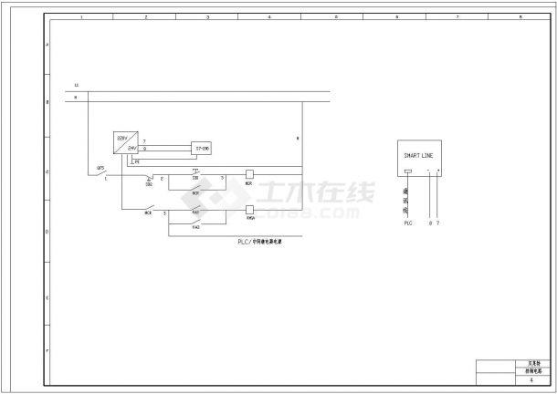 贝莱特压滤机设计cad全套电气原理图纸(甲级院设计)-图二