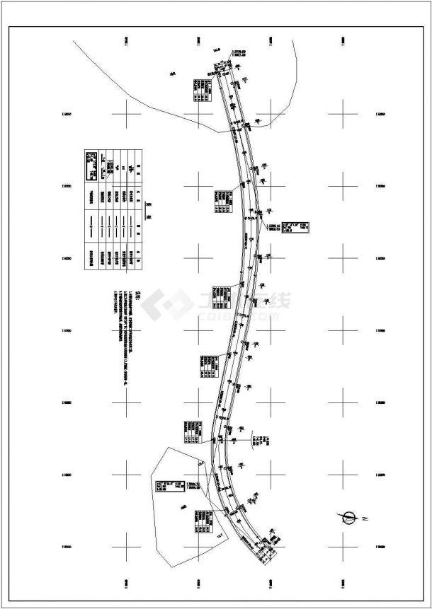 辽阳市某地高尔夫球会道路照明布置cad图纸,共一份资料-图一