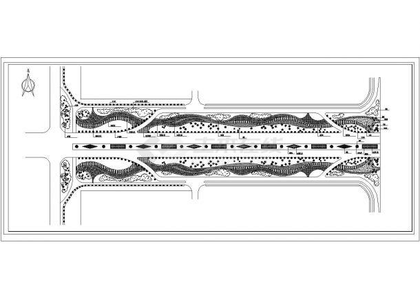 立交桥下景观绿化施工设计图-图一