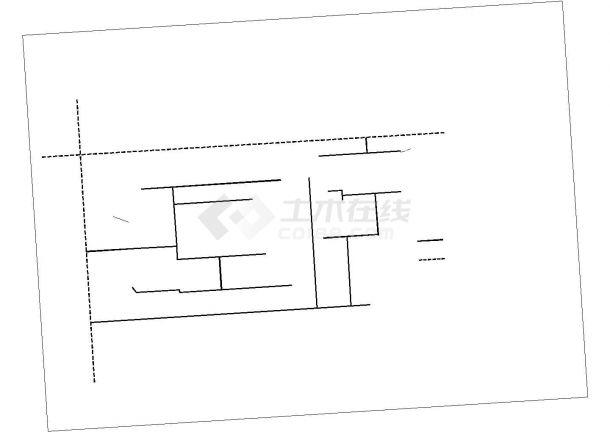 大型住宅小区工程室外管线综合布置cad图-图一