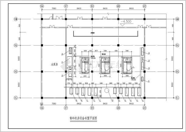 两套-制冷机房整套设计施工图纸-图一