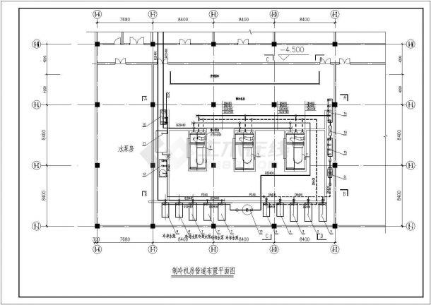两套-制冷机房整套设计施工图纸-图二