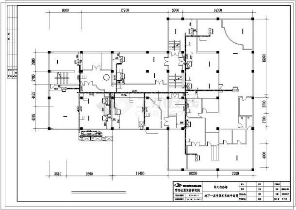 某地上二层地下一层新天地浴都中央空调设计图-图一
