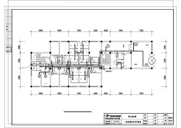 某地上二层地下一层新天地浴都中央空调设计图-图二