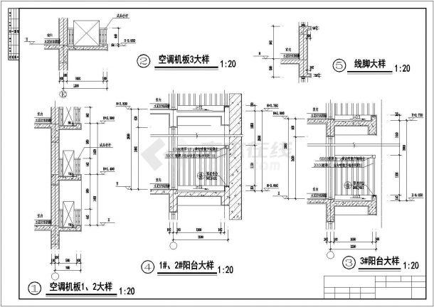 【11层】某地高档小区板式住宅楼全套施工设计cad图(含效果图)-图一