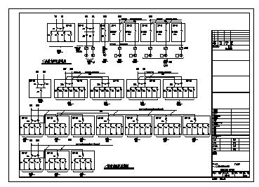 某二层带地下室医疗工业厂房电气施工cad图(含动力,电照,消防设计)-图一