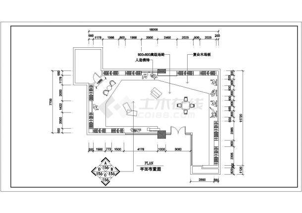 某小型服装店室内装修设计cad详细施工图-图二