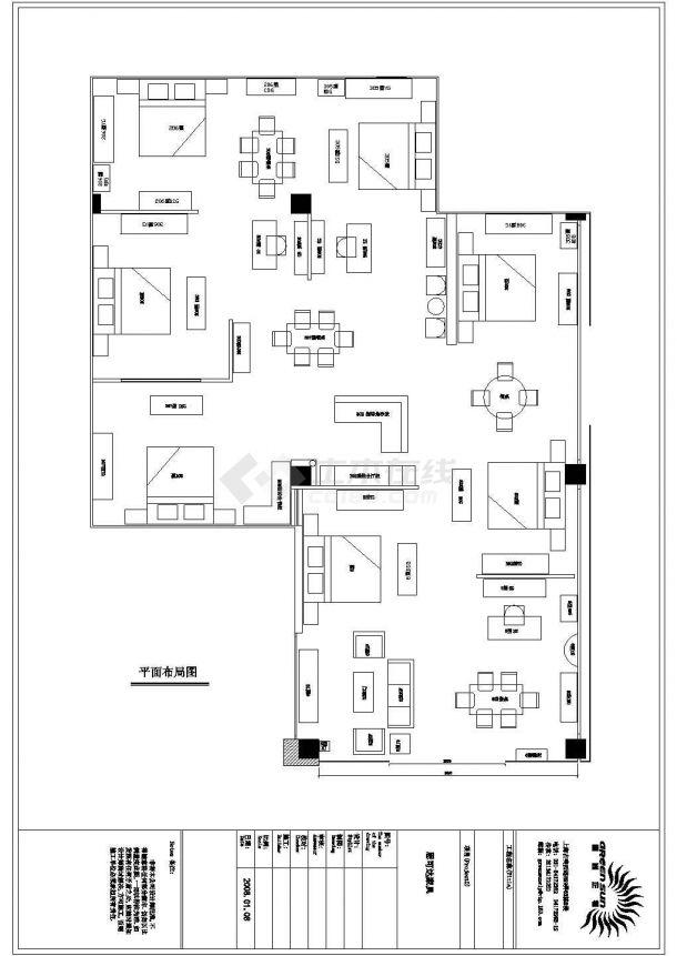 某品牌家具专卖店室内装修设计cad全套施工图纸-图二