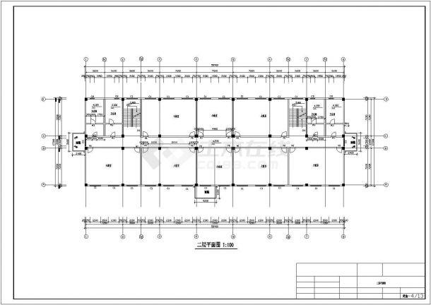 土木工程毕业设计_【六层】某地5283平米框架教学楼毕业设计(计算书、建筑、结构图)-图二
