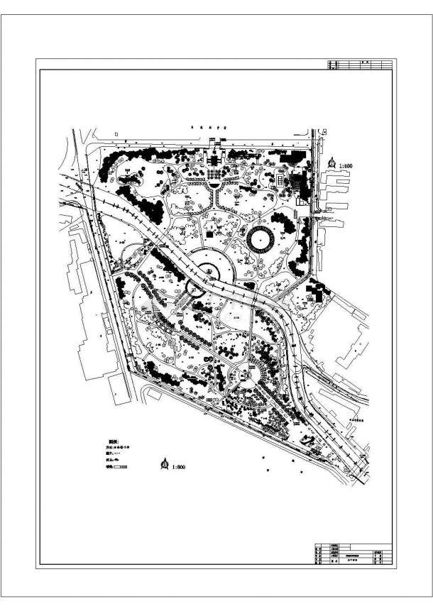 某公园景观植物配置cad图纸设计-图一