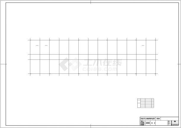 办公楼设计_乌鲁木齐市某高校5610平米6层砖混结构办公楼建筑设计CAD图纸-图二