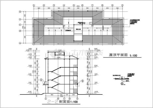 教师公寓楼全套建筑设计方案图-图一