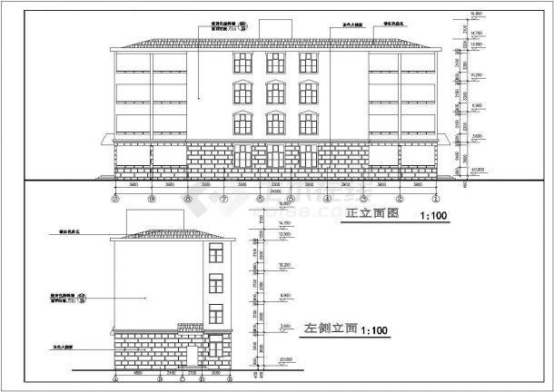 教师公寓楼全套建筑设计方案图-图二