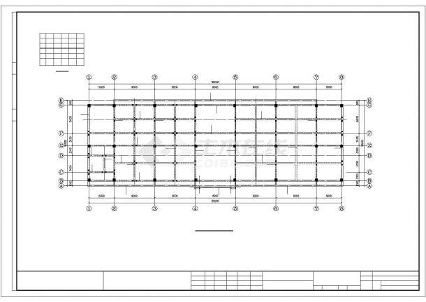 某招待所框架结构建筑设计施工CAD图纸-图一