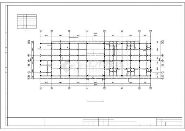 某招待所框架结构建筑设计施工CAD图纸-图二