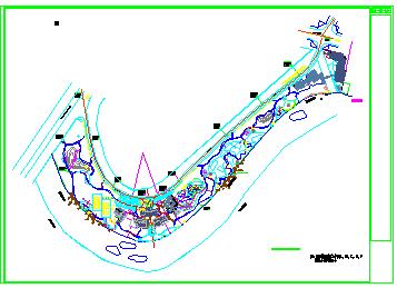 某市半岛景观施工cad设计图-图二
