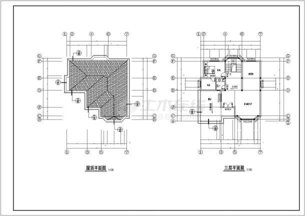 豪华欧式别墅建筑设计方案图-图一