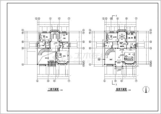 豪华欧式别墅建筑设计方案图-图二