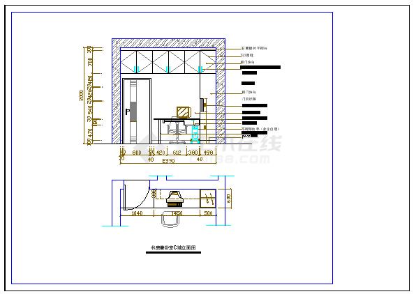 某雅居住宅室内装修设计方案cad平面施工图-图一