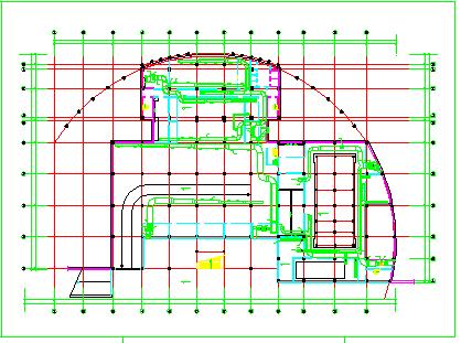 某住宅地下室中央空调全套cad施工设计图纸-图一