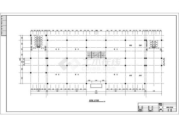 土木工程毕业设计_某地3264平米三层框架教学楼毕业设计(计算书、建筑、结构图)-图一