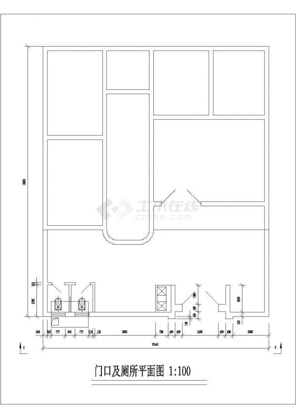 郑州市蘭阳新村小区三层砖混结构民居住宅楼建筑设计CAD图纸-图一