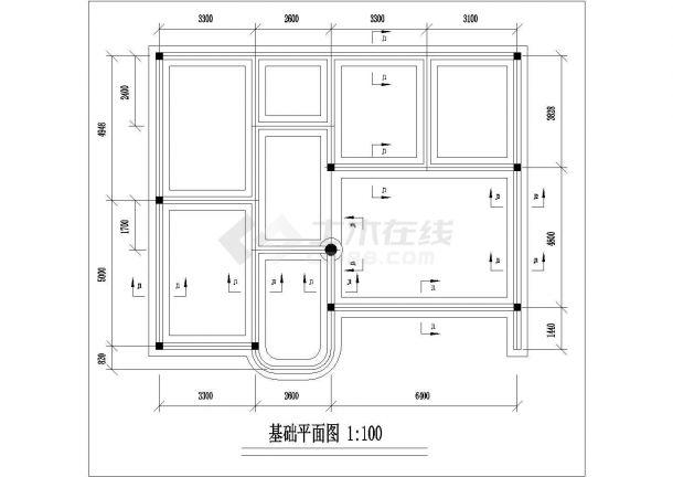 郑州市蘭阳新村小区三层砖混结构民居住宅楼建筑设计CAD图纸-图二