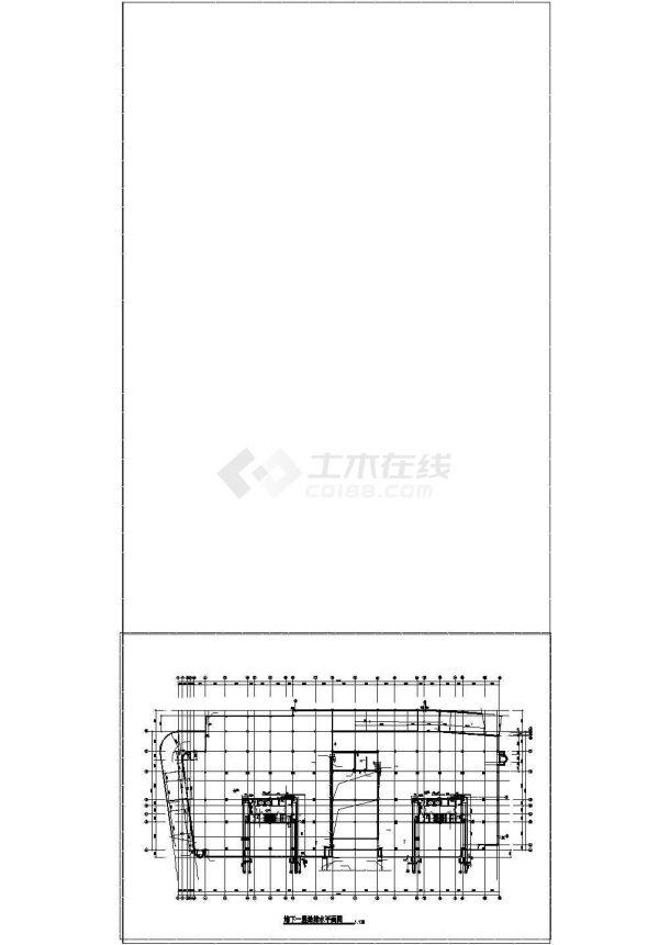办公楼设计_河南某二十四层高层办公楼给排水cad设计图纸-图二