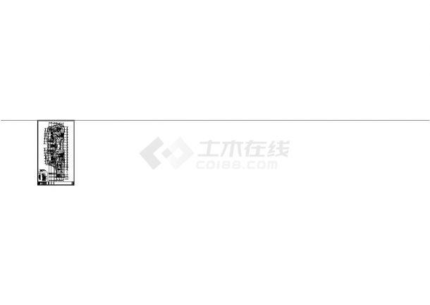 办公楼设计_江苏省某地高层办公楼电气施工全套设计cad图纸-图一