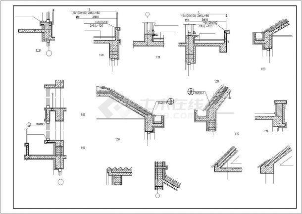 某地区经典欧式豪华住宅建筑方案设计施工CAD图纸(含效果图)-图一
