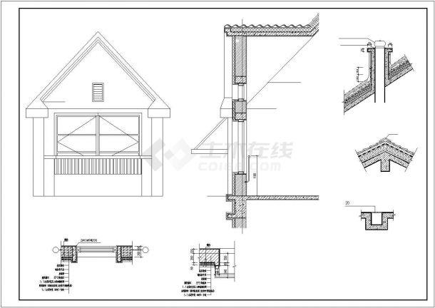 某地区经典欧式豪华住宅建筑方案设计施工CAD图纸(含效果图)-图二