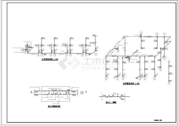 办公楼设计_【山东】某三层办公楼采暖系统设计cad图纸(市政集中供热)-图一