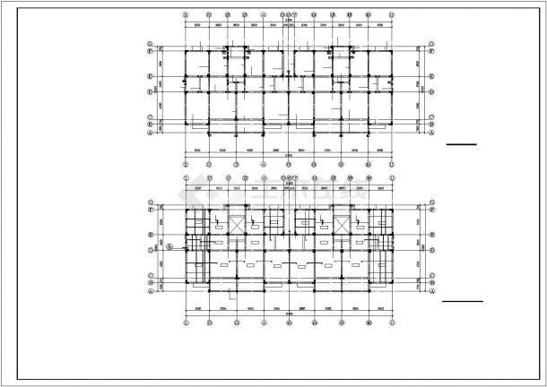 某小区小高层框架结构建筑设计施工CAD图纸-图一