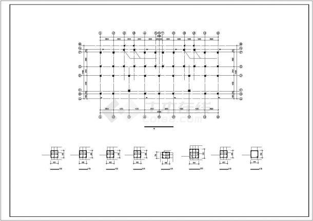 某小区小高层框架结构建筑设计施工CAD图纸-图二