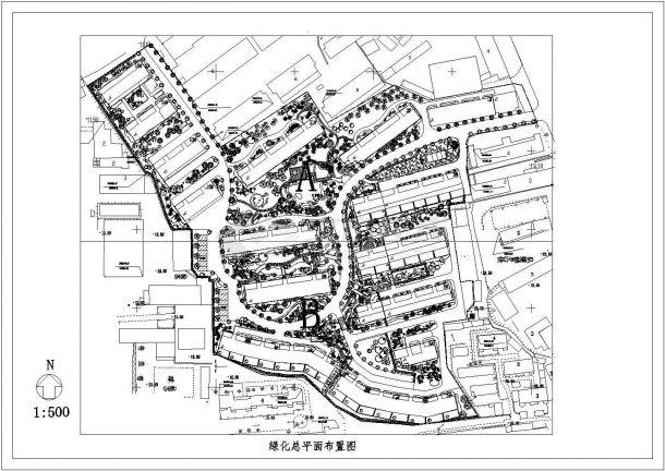某城市花园绿化景观设计图-图二