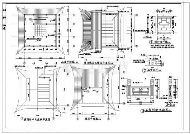 文昌阁某古建筑施工设计方案图-图一