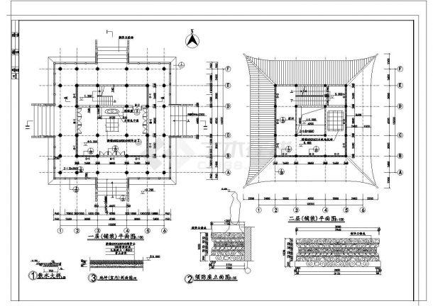 文昌阁某古建筑施工设计方案图-图二