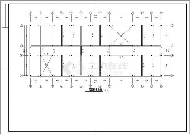 某三层砖混结构综合教学楼建筑设计cad方案图(高11米)-图一