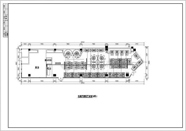 某火锅连锁店室内装修CAD全套构造完整图纸-图二