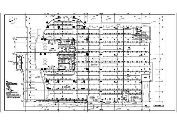 办公楼设计_某剪力墙结构高层办公楼给排水设计cad全套施工图(含设计说明,含消防设计)-图二