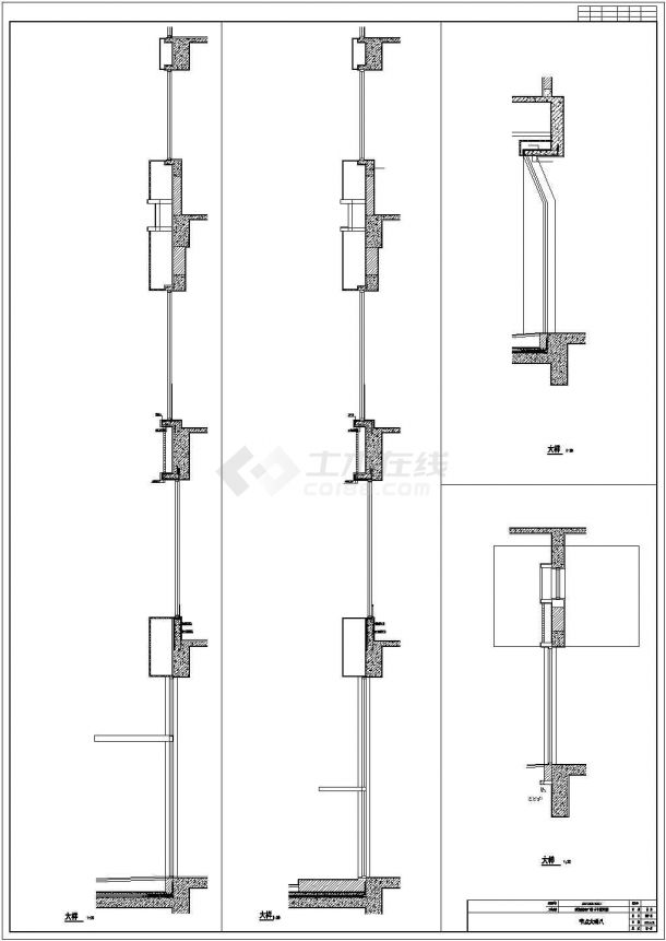 某地上四层框架结构商业楼结构设计施工CAD图纸-图一