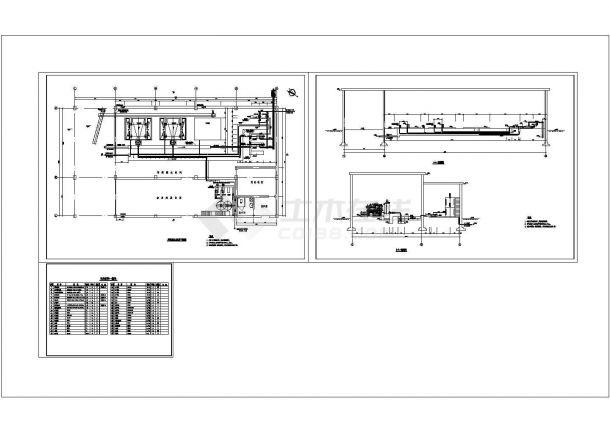 某8万吨/天处理量污水处理厂工艺设计cad全套施工图纸(甲级院设计)-图二
