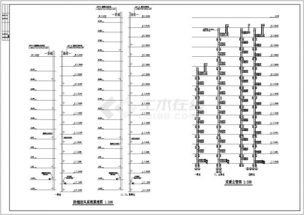 办公楼设计_某高层剪力墙结构办公楼采暖系统设计cad全套施工图(甲级院设计)-图一